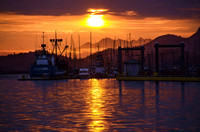 Sunset in a Sitka harbor